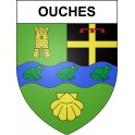 Stickers coat of arms Ouches adhesive sticker