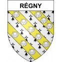 Stickers coat of arms Régny adhesive sticker