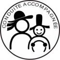 Sticker autocollant conduite accompagnée voiture breton