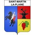 Stickers coat of arms Saint-Martin-la-Plaine adhesive sticker