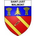 Stickers coat of arms Saint-Just-Malmont adhesive sticker