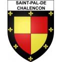 Stickers coat of arms Saint-Pal-de-Chalencon adhesive sticker