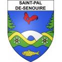 Stickers coat of arms Saint-Pal-de-Senouire adhesive sticker