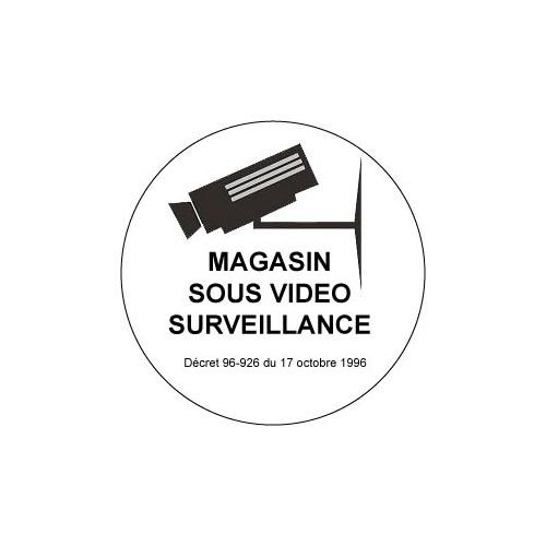 Autocollant magasin sous vidéo surveillance alarme
