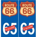 Route 66 US sticker autocollant plaque logo 2