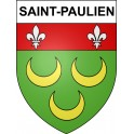 Stickers coat of arms Saint-Paulien adhesive sticker