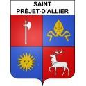 Stickers coat of arms Saint-Préjet-d'Allier adhesive sticker