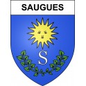 Stickers coat of arms Saugues adhesive sticker