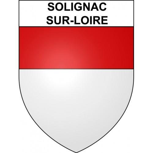 Stickers coat of arms Solignac-sur-Loire adhesive sticker