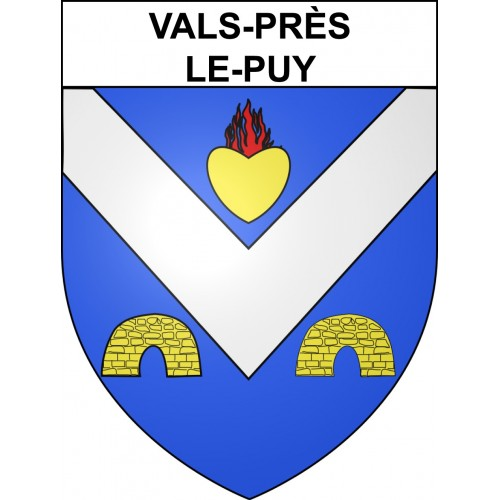 Stickers coat of arms Vals-près-le-Puy adhesive sticker