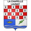 La Chapelle-Launay 44 ville sticker blason écusson autocollant adhésif
