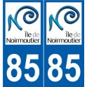 85 Insel Noirmoutier aufkleber typenschild aufkleber