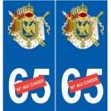 Napoleon empire sticker number choice sticker plate auto logo 1