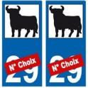 Toro taureau feria autocollant plaque
