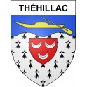 Stickers coat of arms Théhillac adhesive sticker