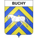 Stickers coat of arms Buchy adhesive sticker