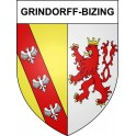 Stickers coat of arms Grindorff-Bizing adhesive sticker