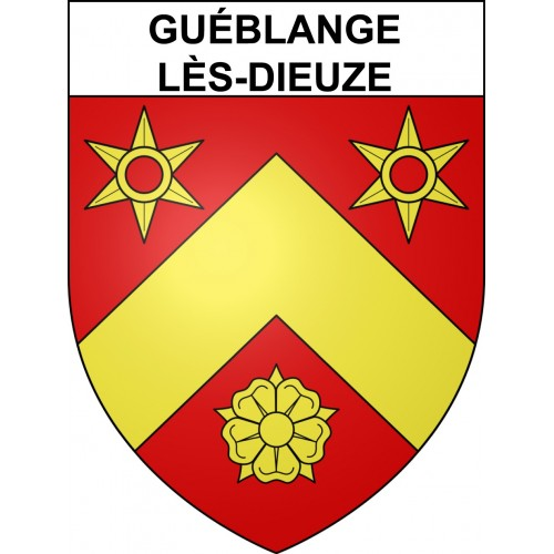 Stickers coat of arms Guéblange-lès-Dieuze adhesive sticker