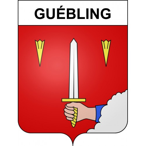 Stickers coat of arms Guébling adhesive sticker
