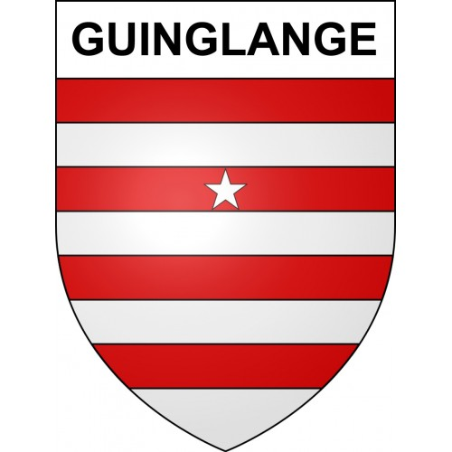 Stickers coat of arms Guinglange adhesive sticker