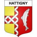 Stickers coat of arms Hattigny adhesive sticker
