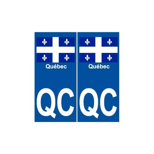 Québec QC ville monde sticker autocollant plaque