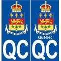Québec QC ville je me souviens monde sticker autocollant plaque