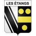 Les Étangs 57 ville sticker blason écusson autocollant adhésif
