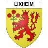 Pegatinas escudo de armas de Lixheim adhesivo de la etiqueta engomada