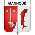 Stickers coat of arms Manhoué adhesive sticker