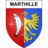 Stickers coat of arms Marthille adhesive sticker