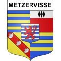 Stickers coat of arms Metzervisse adhesive sticker
