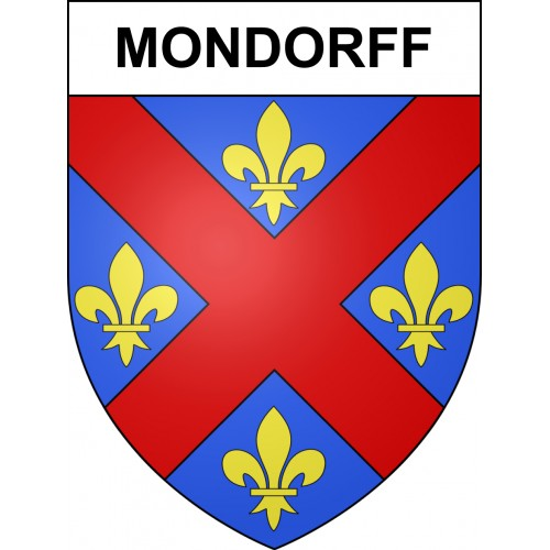 Stickers coat of arms Mondorff adhesive sticker
