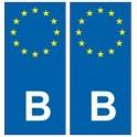 F Europe autocollant plaque
