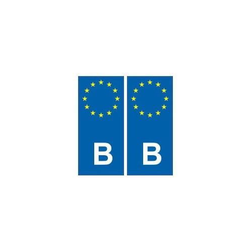 b belgique europe autocollant plaque immatriculation. Black Bedroom Furniture Sets. Home Design Ideas