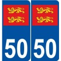 50 normandy sticker plate rounded corner