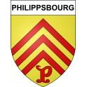 Stickers coat of arms Philippsbourg adhesive sticker