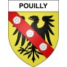 Stickers coat of arms Pouilly adhesive sticker