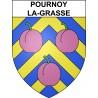 Stickers coat of arms Pournoy-la-Grasse adhesive sticker