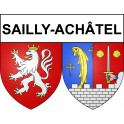 Stickers coat of arms Sailly-Achâtel adhesive sticker