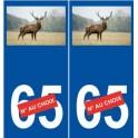 Cerf numéro choix autocollant plaque sticker