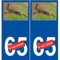 Lièvre numéro choix autocollant plaque sticker logo 2