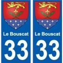 33 Le Bouscat blason ville sticker autocollant plaque