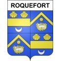 Roquefort 47 ville sticker blason écusson autocollant adhésif