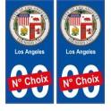 Los Angeles USA ville Autocollant plaque immatriculation auto sticker numéro au choix sticker city