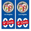 Los Angeles USA ville Autocollant plaque immatriculation auto sticker numéro au choix sticker city