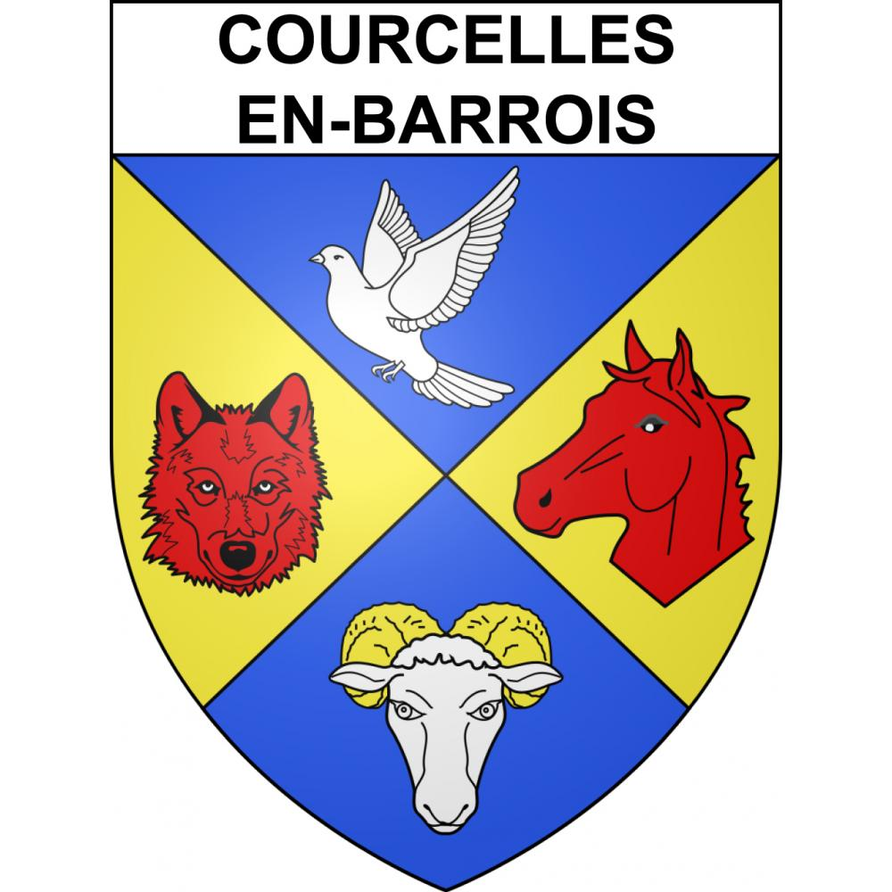 Stickers coat of arms Courcelles-en-Barrois adhesive sticker