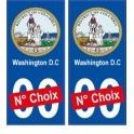 Washington D.C USA ville Autocollant plaque immatriculation auto sticker numéro au choix sticker city