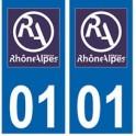 01 Ain autocollant plaque