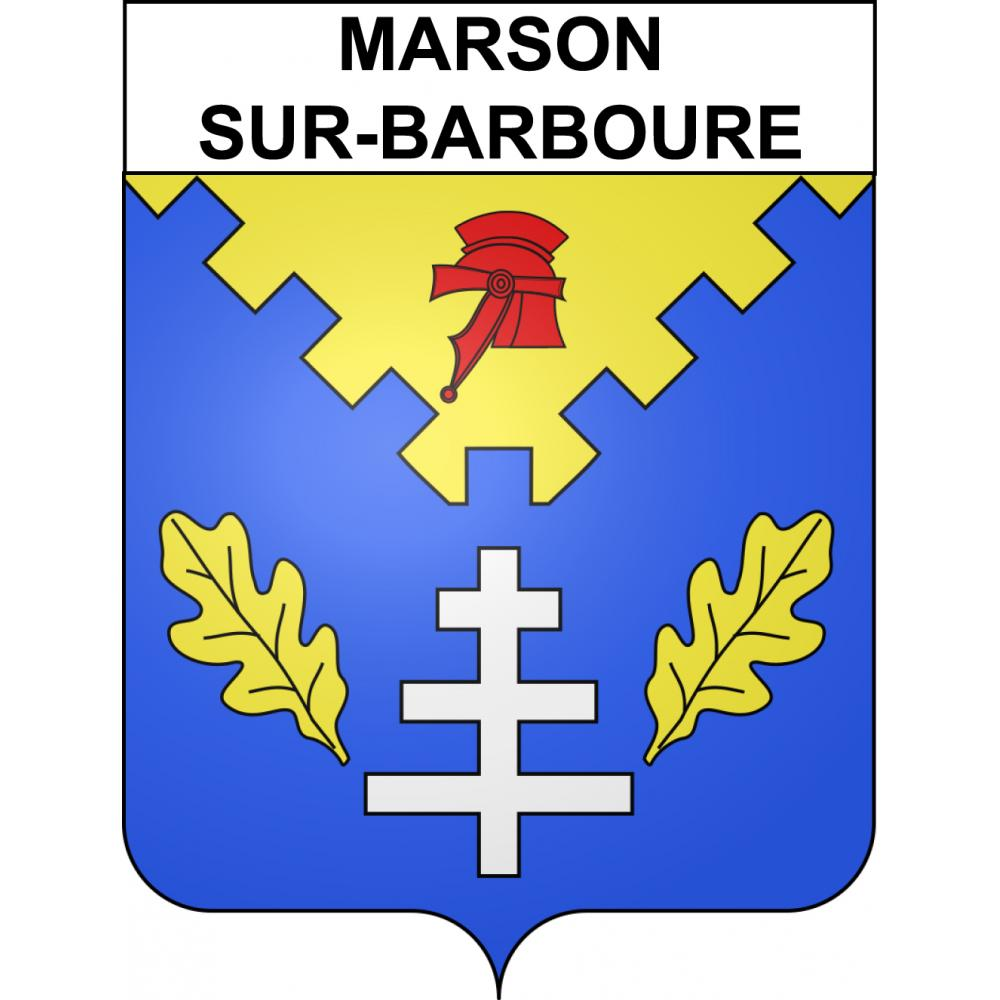 Stickers coat of arms Marson-sur-Barboure adhesive sticker
